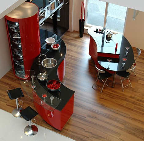 modium kitchen ferrari rot Luxury Kitchen Designs   Ferrari kitchen