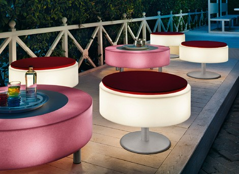 Modoluce Light Up Furniture Atollo Outdoor 1 Illuminated Patio By