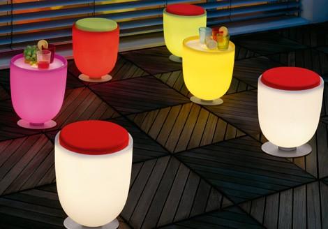 Patio Table Lighting Illuminated furniture light up patio furniture by modoluce modoluce light up furniture campanone pouff 1g workwithnaturefo