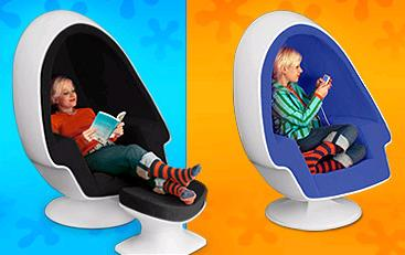 modpod egg pod speaker chair ottoman modPod Egg Chair   entertainment inside an Egg