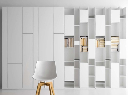 Wall Of Storage Glamorous Modular Wall Storage Systemmdf Italia  Random Design Decoration