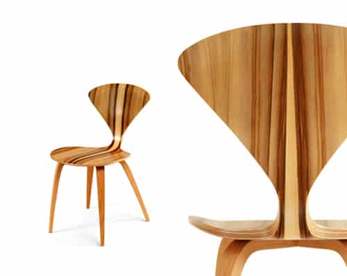 Molded Plywood Chairs Cherner Modern Red Chair Hivemodern Moldedplywoodchairschernermodernredgum6 Trendir Molded Plywood Chairs By Cherner Chair In Exotic Red Gum Wood