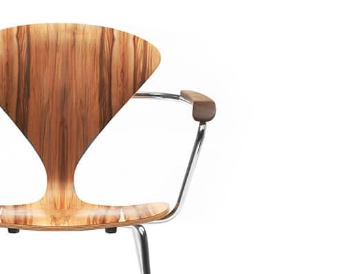 Molded Plywood Chairs By Cherner Chair In Exotic Red Gum Wood