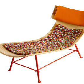 Molded Wood Chaise Longue by LOP
