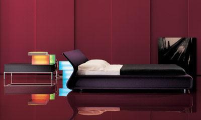 molteni clip bed purple Contemporary Bed from Molteni   the Clip Italian bed