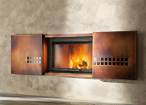 Wood burning fireplaces modern fireplace ideas by Contemporary wood fireplace insert