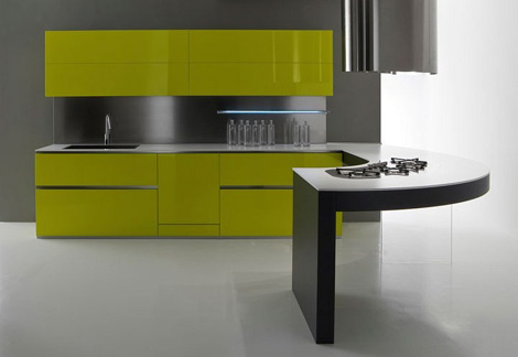 moretuzzo kitchen class x 1 Modern Kitchen Design from Moretuzzo   Class X defies gravity