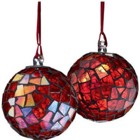 Mosaic Ball Christmas Tree Ornament – Elegant holiday design from Crate & Barrel
