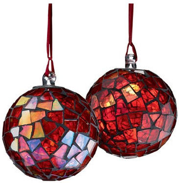 mosaic ball christmas tree ornament elegant holiday design from crate barrel - Crate And Barrel Christmas Decorations