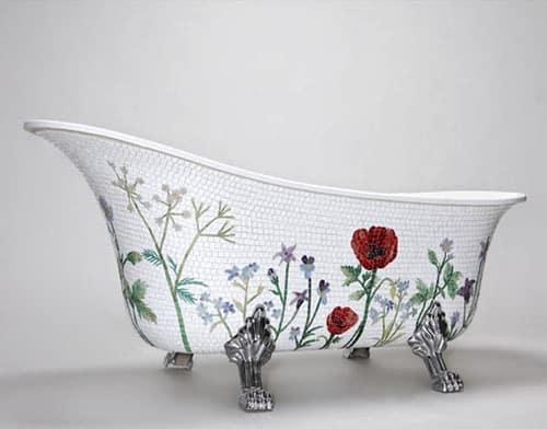 mosaicsweden bathtub mosaic 1 Mosaic Bathtub by MosaicSweden
