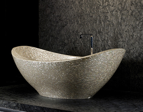 mother of pearl bathtub shellstone antolini luigi 1 Mother of Pearl Decor by Antolini Luigi   Shellstone Collection