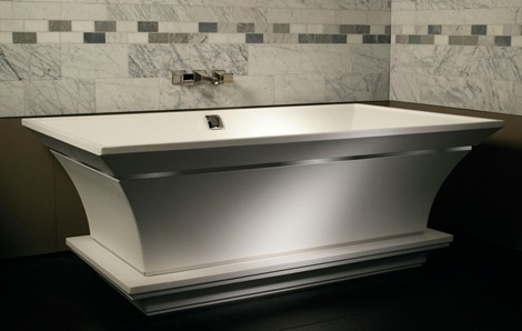 mti whirlpools solid surface tubs intarcia Solid Surface Tubs   Intarcia Pedestal Tub from MTIwhirlpools