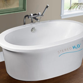 Stereo H2O bath tub from MTI Whirlpools