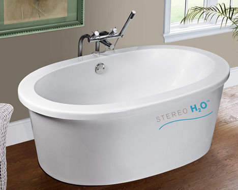 Stereo H2O bath tub from MTI Whirlpools