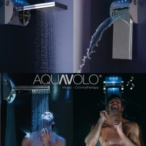 MP3 Shower Head by Bossini – iPod shower with speakers, light