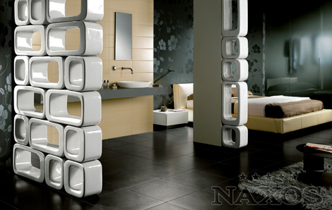 naxos ceramic x wall 1 Ceramic Wall from Naxos   new modern X wall