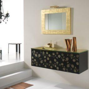 Neabath Klimti Vanity: beautiful floral motif