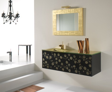 neabath vanity klimti 1 Neabath Klimti Vanity: beautiful floral motif