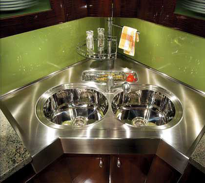 exclusive sink and cabinets in ultramodern kitchen | Neff Luxury Kitchen Accessories