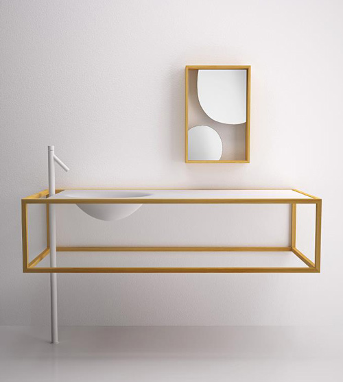 Minimalist bathroom furniture in larch wood by bisazza for Best minimalist furniture