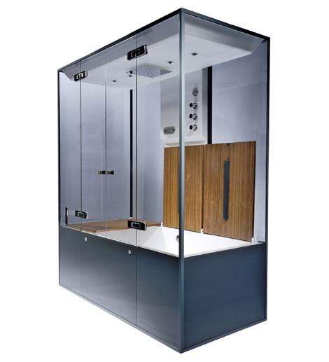 neoqi as cube sauna bench open Luxury Home Sauna by NeoQi   Cube sauna
