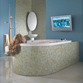 Neptune Neptuner – a bathtub surround sound system! – bath in music or in movies
