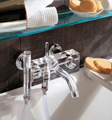 neve brick glas shower mixer