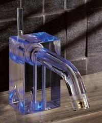 Neve Brick Glas Faucet – light inside of a faucet