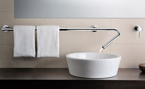Bathroom Faucet From Wall modular faucet from neve takes any shape