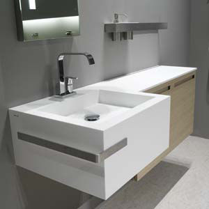 nevio tellatin point basin Point basin by Antonio Lupi Design   the new countertop with an integrated basin