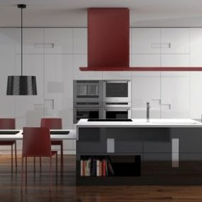 Curved Kitchen Designs Curved Kitchen Islands Curved Cabinets By - Elektravetro-kitchen-by-ernestomeda