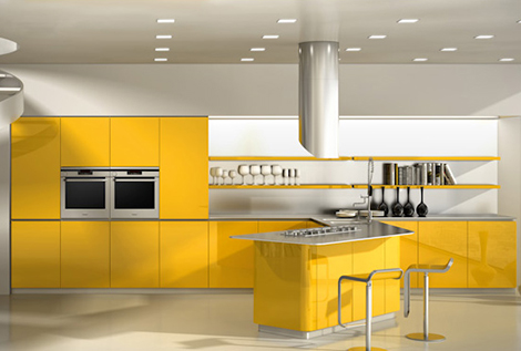 new modern kitchen designs effeti sinuosa 1 thumb New Modern Kitchen Designs by Effeti   new Segno & Sinuosa Kitchens