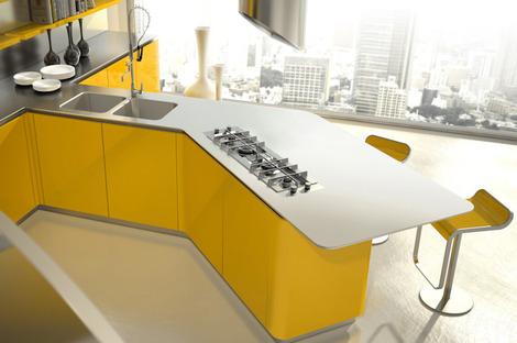 Brilliant New Modern Kitchen Designs By Effeti New Segno Sinuosa Interior Design Ideas Clesiryabchikinfo