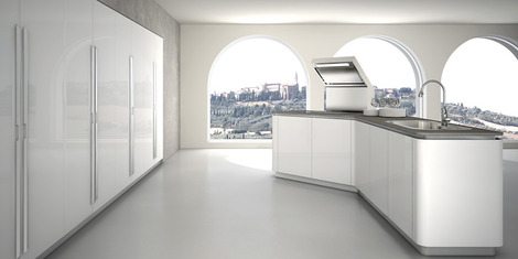 Admirable New Modern Kitchen Designs By Effeti New Segno Sinuosa Interior Design Ideas Clesiryabchikinfo