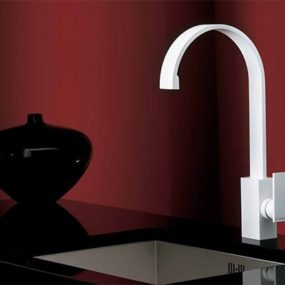 White Faucet Collection from Newform