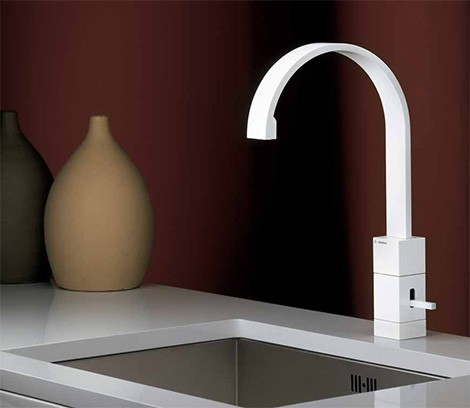 White Kitchen Faucet white faucet collection from newform