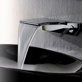 Waterfall Faucet from Newform – new thin Flu-x