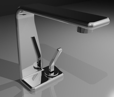 Waterfall Faucet from Newform - new thin Flu-x