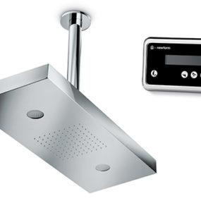Digital Shower Head from Newform – keyboard controlled showers