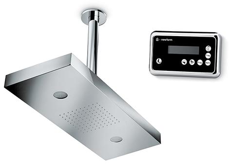 newform lounge showerhead Digital Shower Head from Newform   keyboard controlled showers