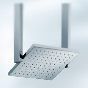 Pivoting showerhead from Newform – a square showerhead design
