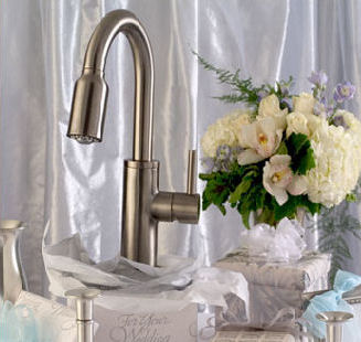 newport brass contemporary kitchen pull down faucet