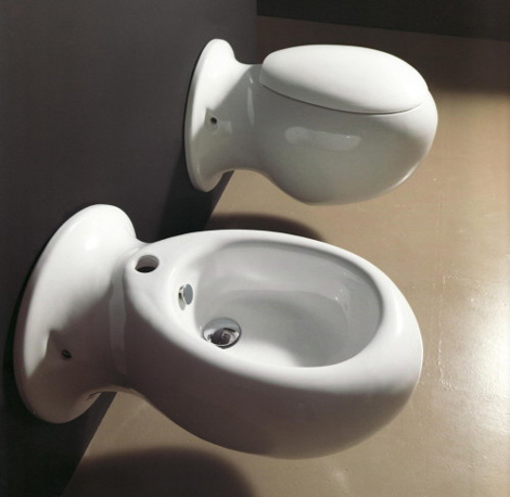 nic design sanitaryware made 1 Unusual Toilet and Bidet – Made compact by NIC Design