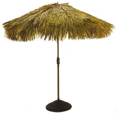 Nicamaka Tiki Fiberbuilt umbrella made with palm thatch