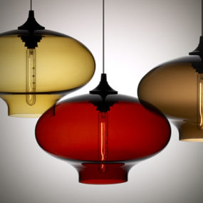 Contemporary Lamp collection from Nichemodern – Blown Glass Pendants as Original as You Are!