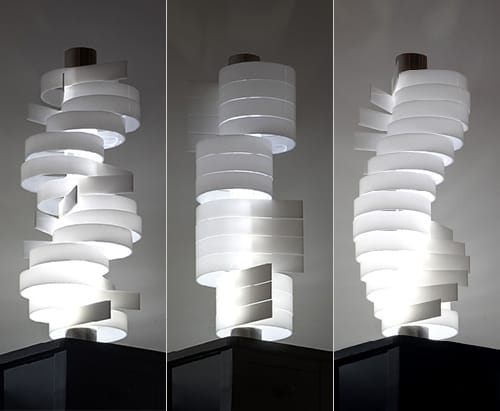 ... Shape Changing Lamps With Rotating Lamp Shades By Nistornistor Nistor  Nistor Lamp Tempo 8g Audiocablefo ...