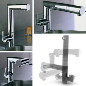 Folding Faucet Snake from Nobili – adjustable kitchen faucet