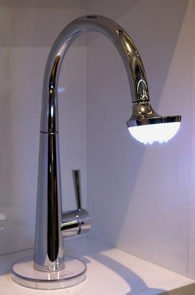 nobili spa kitchen faucet sun 1 Kitchen Faucet by Nobili Spa   Sun Lamp Faucet
