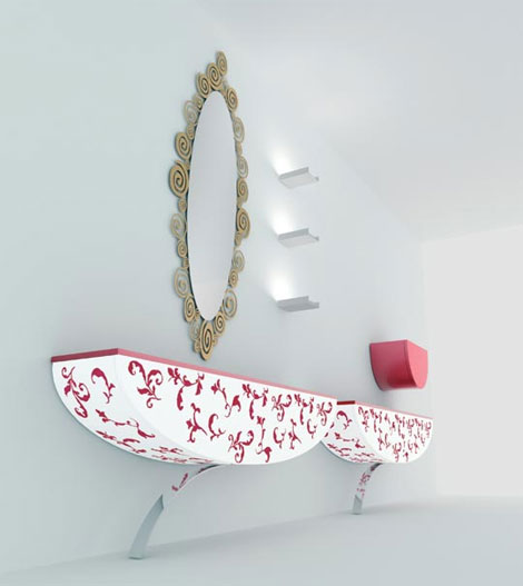 nova linea kos furniture Decorated Bathroom Furniture by Nova Linea   Kos bathroom expressions
