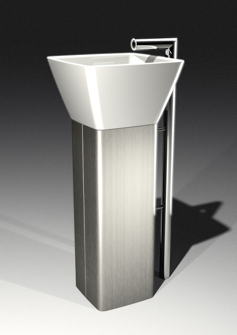Nova68 Flo Pedestal Sink Flo Pedestal Sink And Faucet By Patrick Messier  From Nova68